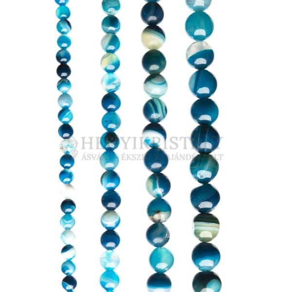Achát sávos kék füzér