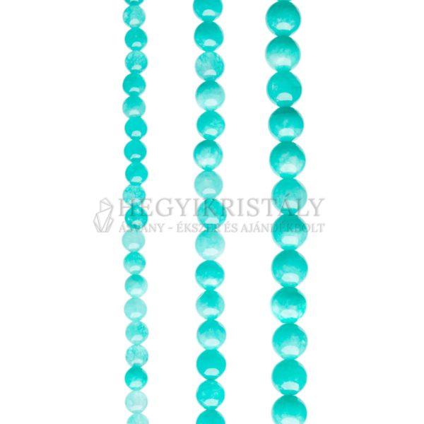Jade amazonit színű füzér