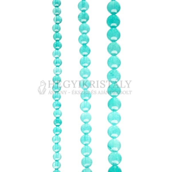 Jade apatit színű áttetsző füzér