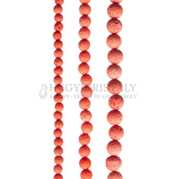 Lávakő neon narancs füzér