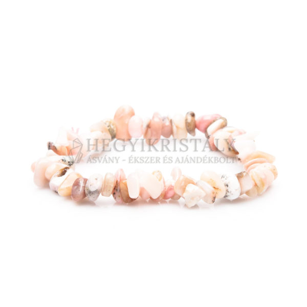 Pink Opál (Anden opál) splitter karkötő