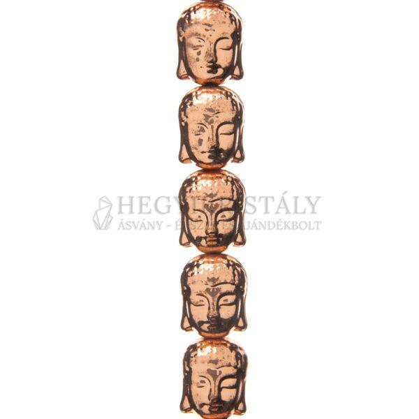 Hematit Buddha fej rosegold füzér