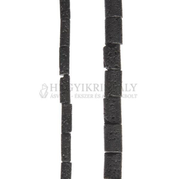 Lávakő fekete henger alakú füzér