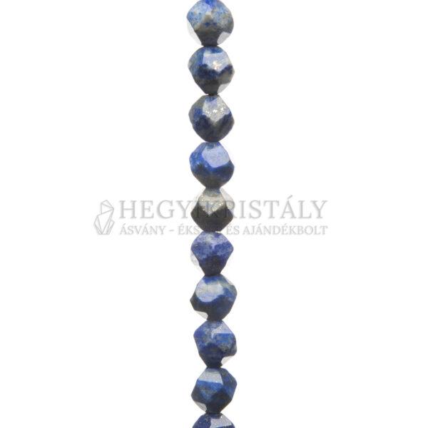 Lapis Lazuli (Lazurit) kézi fazettált füzér