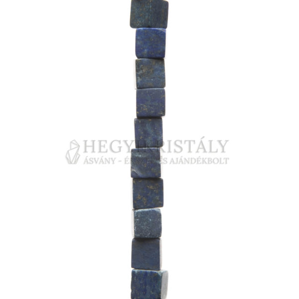 Lapis Lazuli (Lazurit) matt kocka alakú füzér