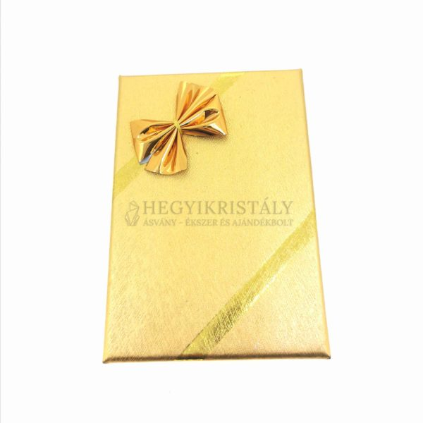 Ékszerdoboz arany 8 x 5 cm