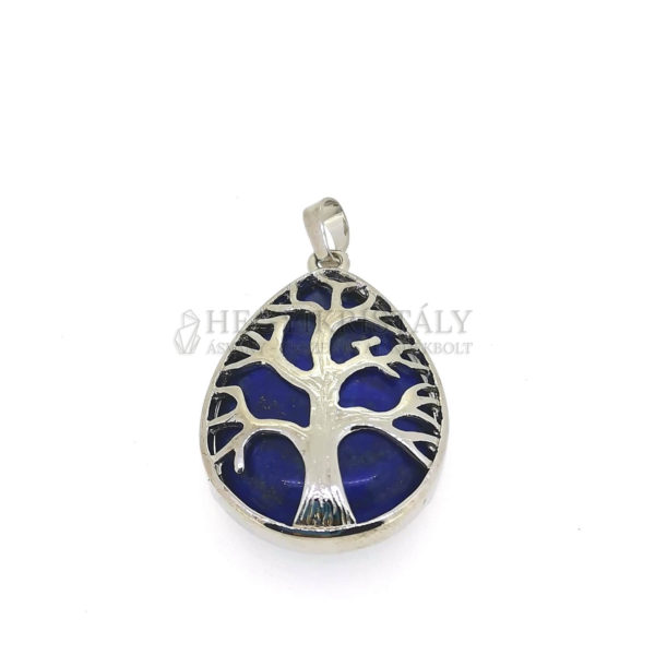 Lapis lazuli életfa (csepp) ásvány medál