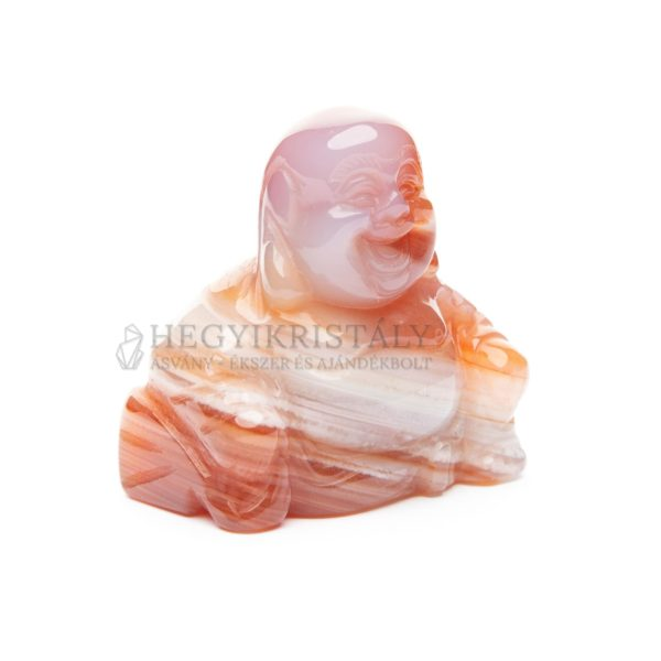 Achát karneolos buddha