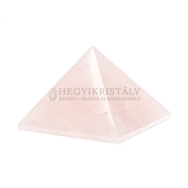 Rózsakvarc piramis