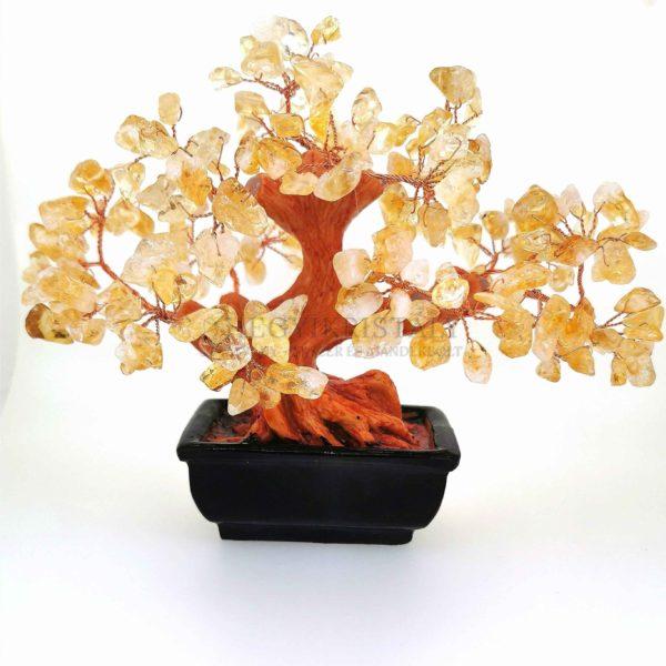 Bonsai alakú citrin életfa (szerencsefa)