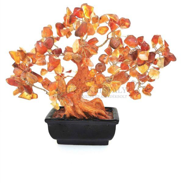 Bonsai alakú karneol életfa (szerencsefa)