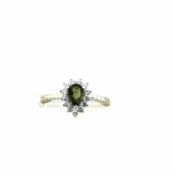 Turmalin Zöld -Verdelit- gyűrű 5