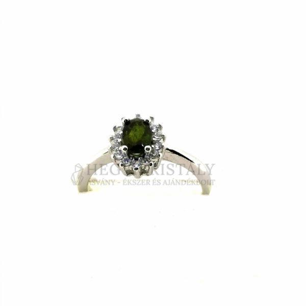Turmalin Zöld -Verdelit- gyűrű 7