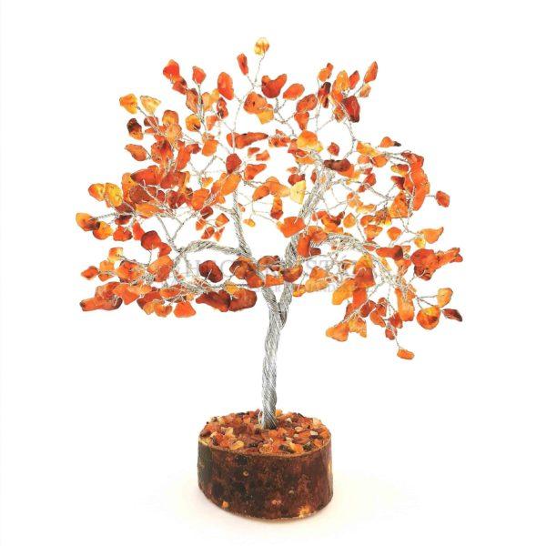 Cserje alakú karneol életfa (szerencsefa)