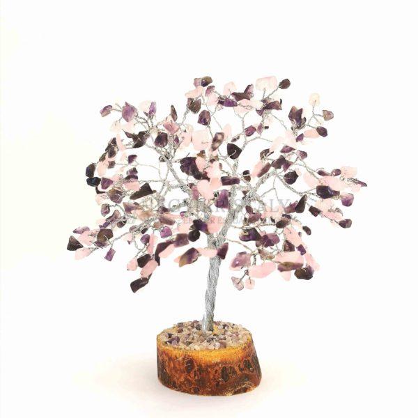 Cserje alakú ametiszt, rózsakvarc életfa (szerencsefa)