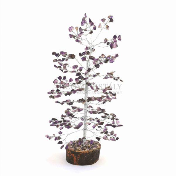 Fenyő alakú ametiszt életfa (szerencsefa)