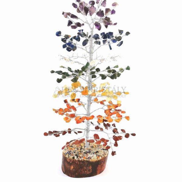 Fenyő alakú csakra életfa (szerencsefa)