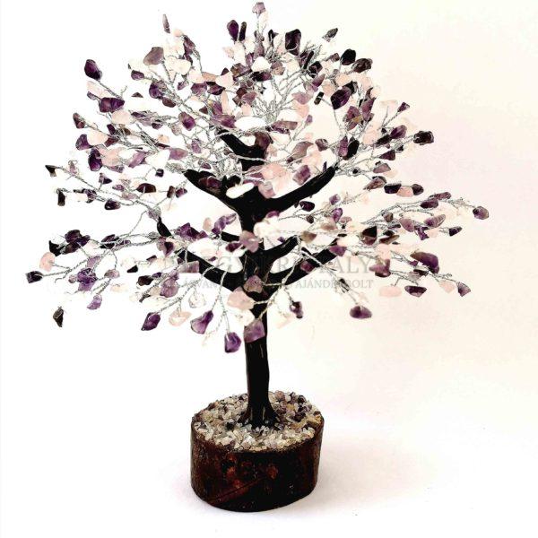 Platán alakú ametiszt, rózsakvarc életfa (szerencsefa)