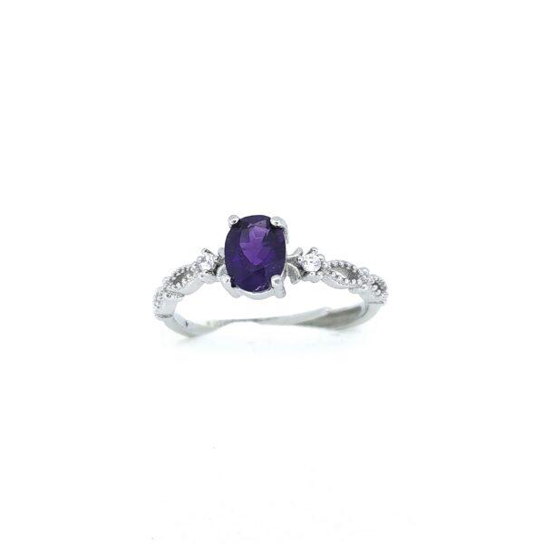 Ametiszt gyűrű 3