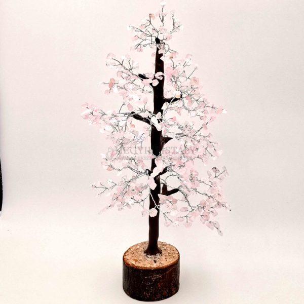Platán alakú rózsakvarc életfa (szerencsefa)