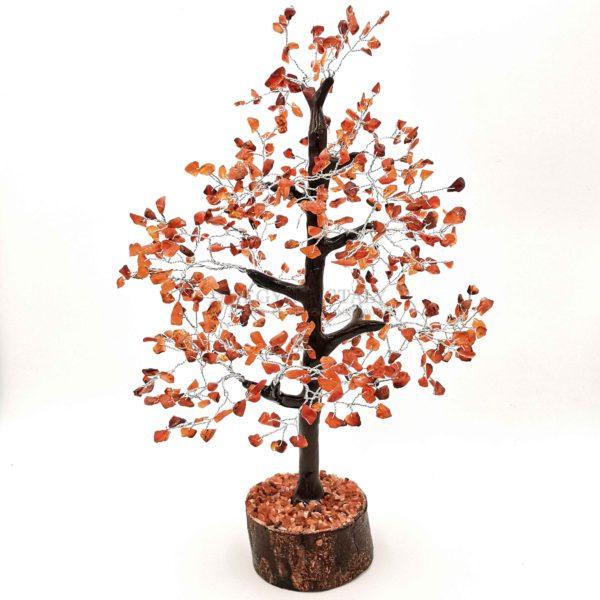 Platán alakú karneol életfa (szerencsefa)