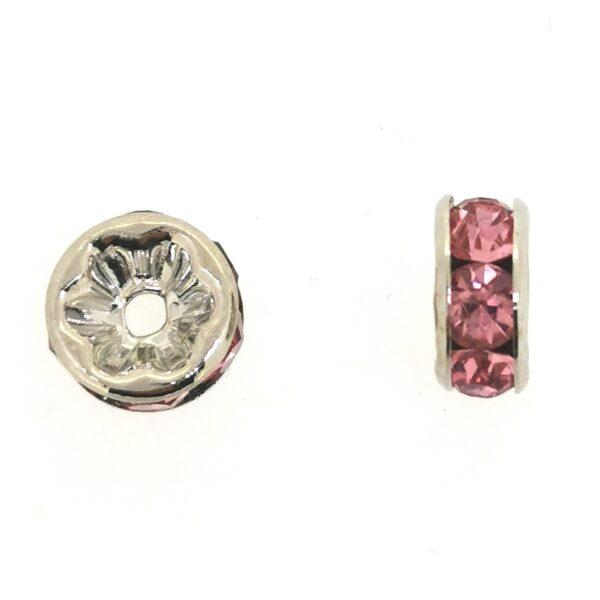 Cirkóniás tárcsa rózsaszín 4mm