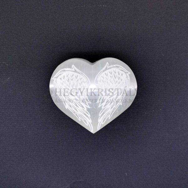 Szelenit szív angyalszárny motívummal