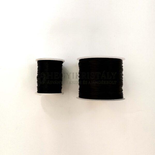 Fűző gumi fekete