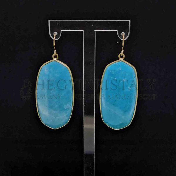 Nagy alakú howlit fülbevaló (kék)