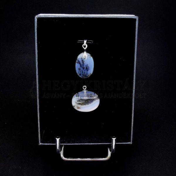 Achát dendrites medál (kicsi)