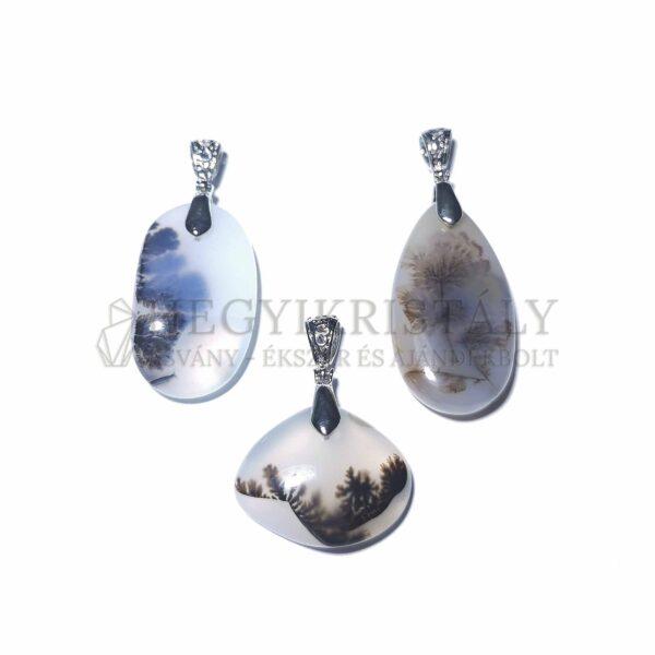 Achát dendrites medál (nagy)