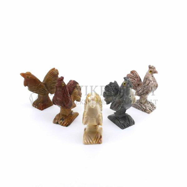 Zsírkő faragvány (kakas)