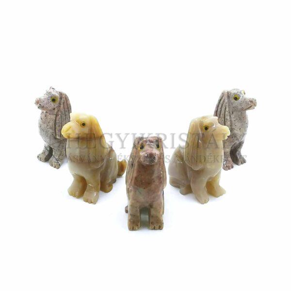 Zsírkő faragvány (kutya)