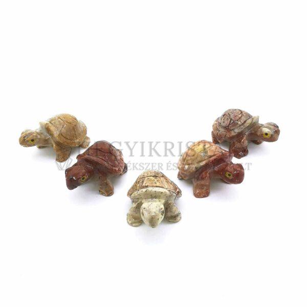 Zsírkő faragvány (teknős)