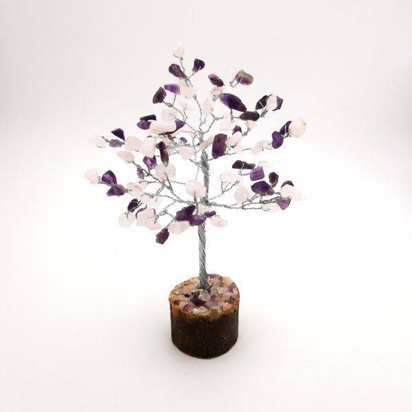 Cserje alakú ametiszt, rózsakvarc életfa mini (szerencsefa)