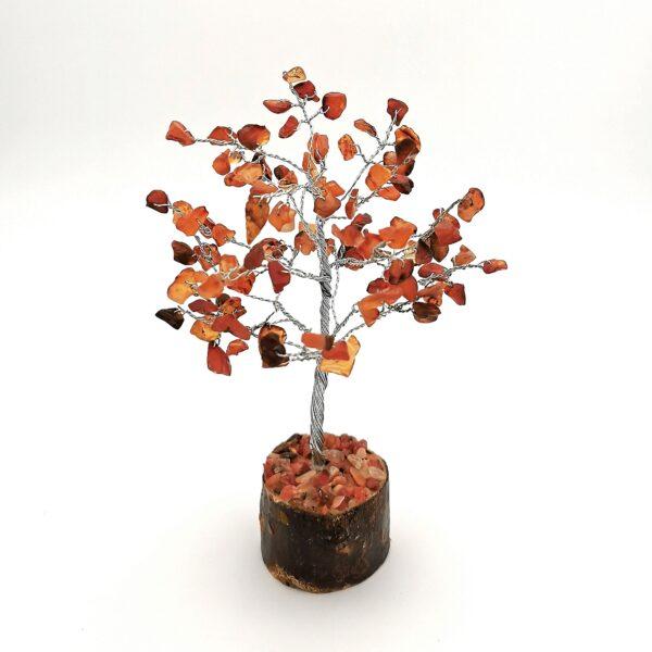 Cserje alakú karneol életfa mini (szerencsefa)