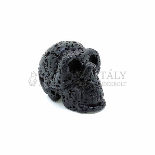 Lávakő fekete koponya