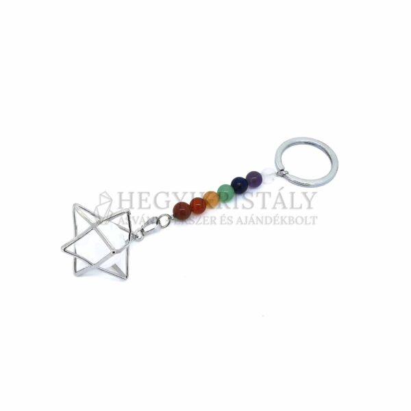 Csakra-merkaba kulcstartó (hegyikristály)