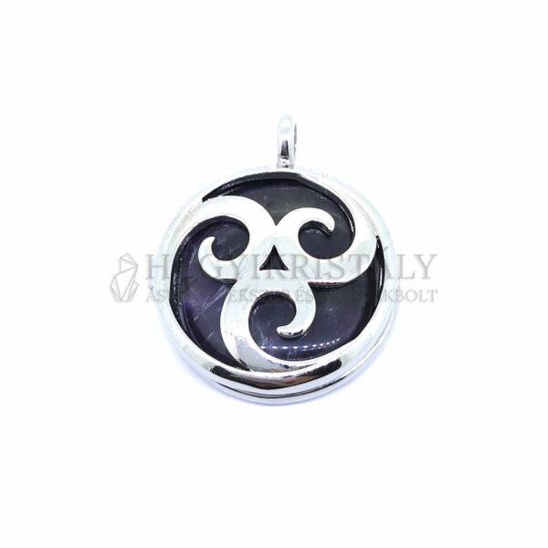 Ametiszt nyitható medál (maori szimbólum)