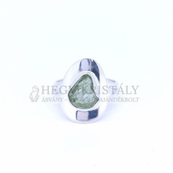 Moldavit ezüst gyűrű