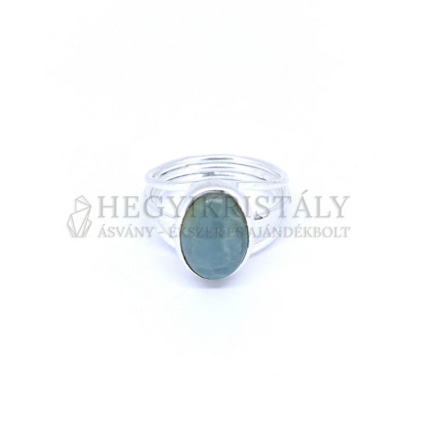Akvamarin ezüst gyűrű