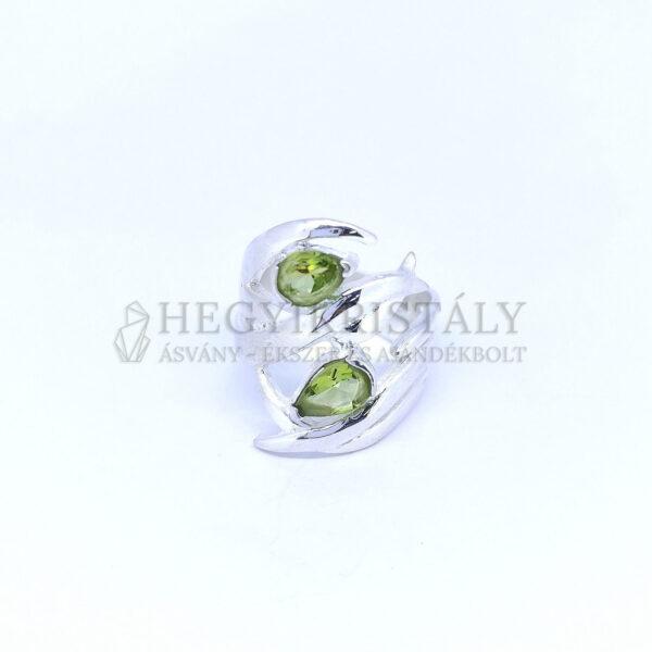 Olivin (Peridot) ezüst gyűrű