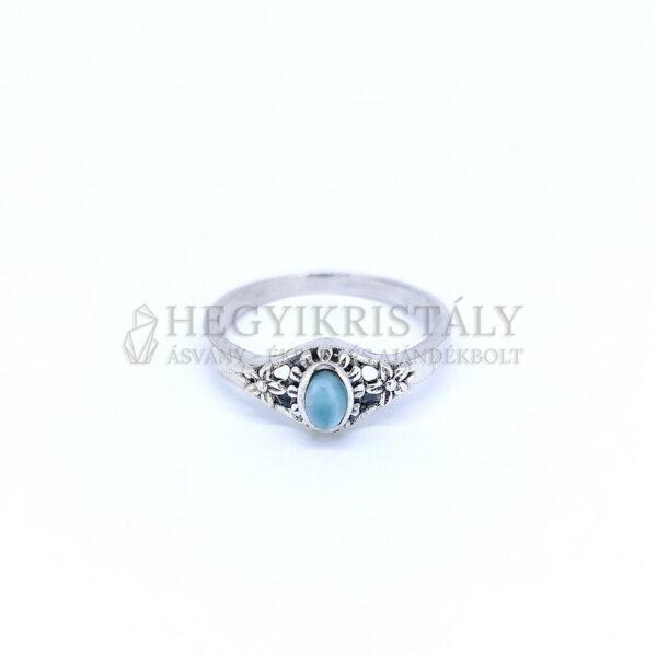 Larimar ezüst gyűrű