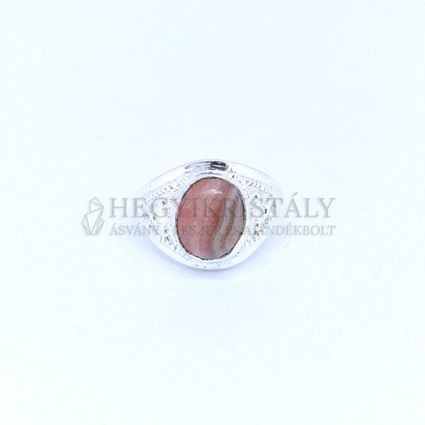 Rodokrozit ezüst gyűrű
