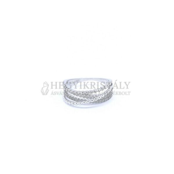 Cirkónia ezüst gyűrű