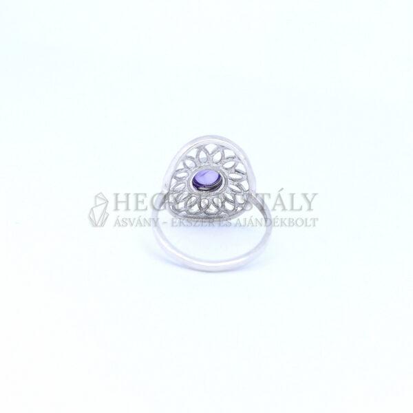 Ametiszt ezüst gyűrű