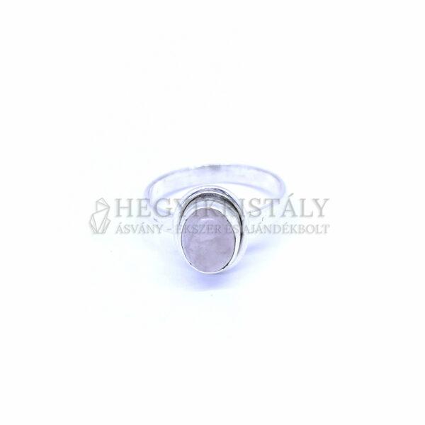 Rózsakvarc ezüst gyűrű
