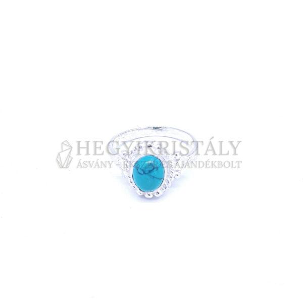 Howlit kék ezüst gyűrű